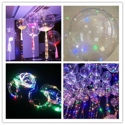 Decor Colorful Glow In The Dark Transparent Luminous LED Bobo Light Balloon