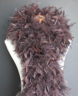 Chocolate Brown 100 Gram Chandelle Feather Boa Dance Party Halloween Costume