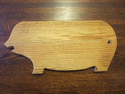 Vintage Primitive Pig Cutting Board Handmade from 100 yr old Reclaimed Solid Oak