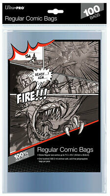Pack of 100 Modern Age Comic Bags Ultra Pro NEW Regular Current Size