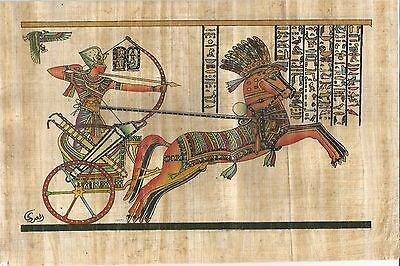 EGYPT PAPYRUS - Hand Painted Papyrus of  King Ramses II (19.5 × 29.5)cm