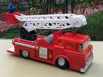 Vintage Battery Operated Fire Truck - Marx Toys Hong King