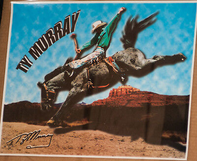 RODEO POSTER - 9-Time PRCA World Champion, Ty Murray; PRCA;PBR;Laminated