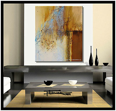 ABSTRACT MODERN PAINTING CANVAS WALL ART LARGE US SIGNED Framed ELOISExxx