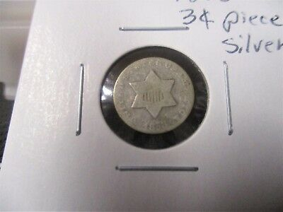 1853-P Three Cent Silver - See Pics! -Ag Coin-D024