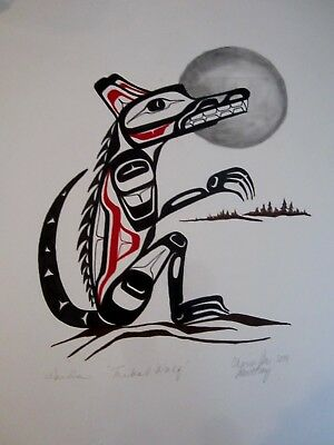 Northwest Coast Art - Tribal Wolf - Original Painting