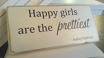 Shabby Chic Audrey Hepburn Quote. Plaque, Sign. Solid Wood. Beautiful Gift.