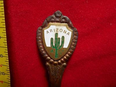 Arizona Solid Copper Color Metal Collector Souvenir Spoon