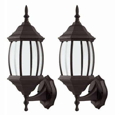 2x Outdoor Wall Porch Patio Vintage Light Exterior Lighting Lamp Lantern Sconce