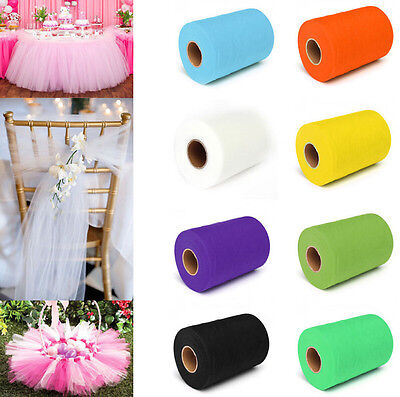 "5yd/25yd/100yd 6""Tulle Fabric Tutu Trim Sewing Craft DIY Handmade Wedding Decor"