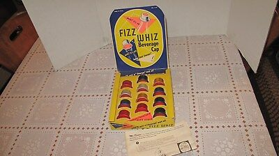 Early Fizz Whiz Beverage Cap Store Advertising Display New Old Store Stock