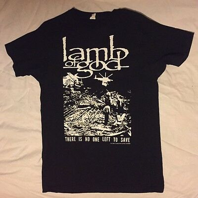 LAMB OF GOD 2012 T-Shirt There Is No One Left To Save Death Thrash Metal Medium