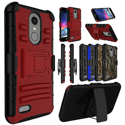 FOR LG ARISTO 2/Fortune 2/Rebel 3 Case Belt Clip Holster Kickstand Phone  Cover