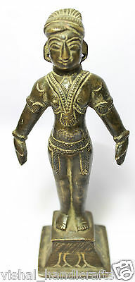 Miscellaneous Indian Antiques Vintage Old Brass Metal God Statue Devi