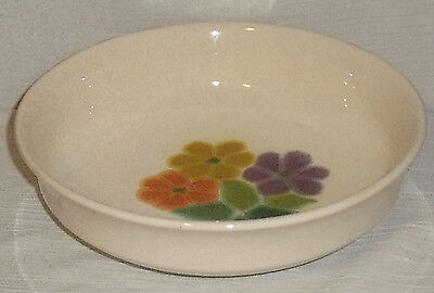"Franciscan Vegetable Serving Bowl 9"" FLORAL US Backstamp Vtg 1977"