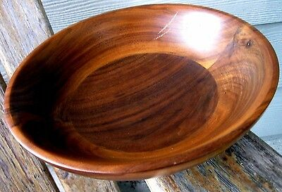 Vintage Wood Dough Salad Rustic Bowl Weathered Worn Lathed Mid Century Modern