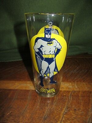 "1976 Pepsi Super Series BATMAN Tumbler Glass-6 1/2"" Tall-(168)"