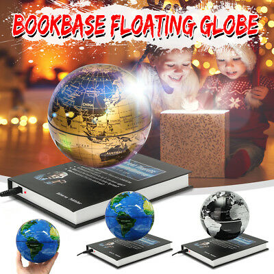6'' LED Magnetic Levitation Floating Luminous Globe World Map Desk Decor Gift AU
