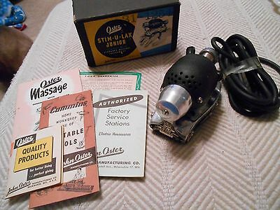 Vintage Oster Stim-U-Lax Junior Model M-4 Home Massage Vibrator Orig. Box, instr
