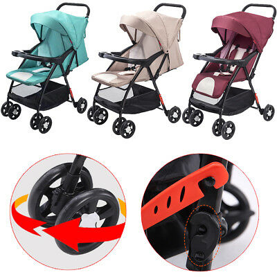 Baby Stroller Pram Compact Lightweight Jogger Travel Carry-on 4 Wheel Pushchair