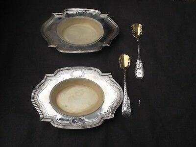1796 stunning pair of Georgain small dishes by Henry Chawner, with liners and sp