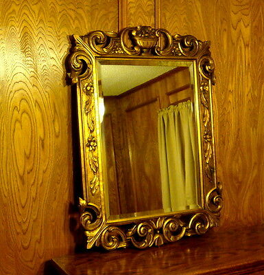 Very Nice European Carved Gilt Frame Beveled Glass Mirror