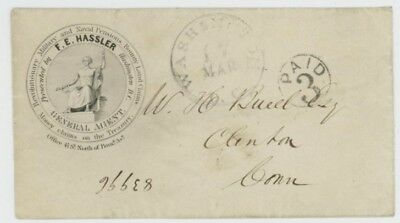 Mr Fancy Cancel ILLUSTRATED  AD COVER REVOLUTIONARY WAR MILITARY & NAVAL PENSION