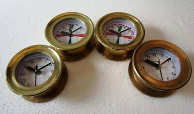 4 pcs SHIP'S BRASS Wall Clock - All Different - BOAT / MARINE / NAUTICAL (5010)