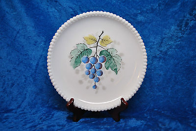 "Vintage Westmoreland 7"" Beaded Edge Salad Plate With Grapes"