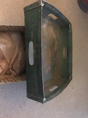 Antique Brass  US Post Office Box Mailbox Door with Glass No. 15 wood Bank