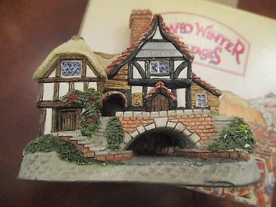 David Winter 1993 Birth Day Cottage / January ~ Hand Made & Painted ~ Box w/ COA