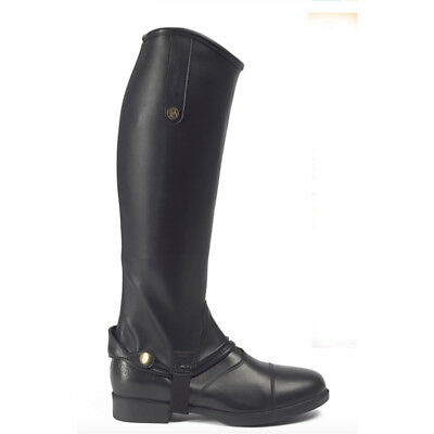 SALE Brogini Treviso Synthetic Riding Gaiters - Black - Size Large