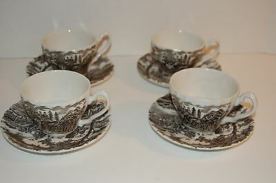 Myott Royal Mail Fine Staffordshire Ware Tea cup and Saucer set of (4)