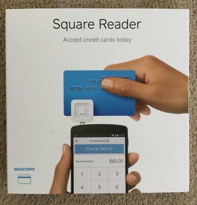 Square Credit Debit Card Reader New Apple Android White