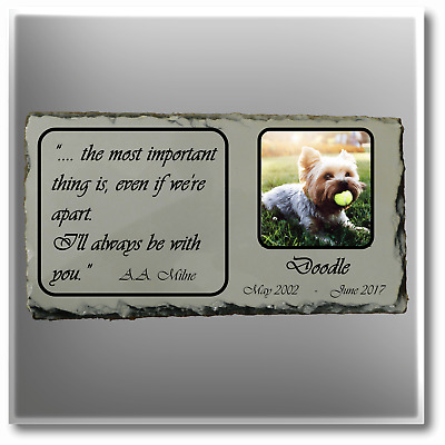 Pet Memorial Slate Plaque Professional Design Your Message and Image