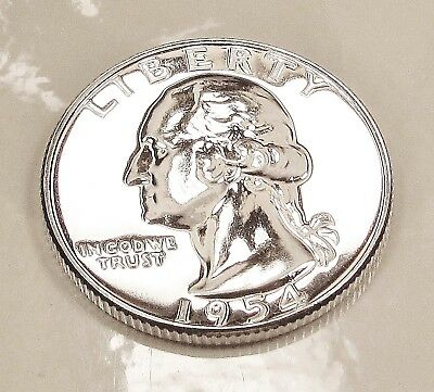1954  Choice   Proof   Quarter  90%  SILVER  >Exact  Coin  Pictured<  #113   15