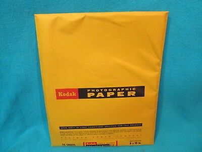Sealed Kodak Kodabromide F-3 Photographic Paper 25 Sheets Expired 9/72