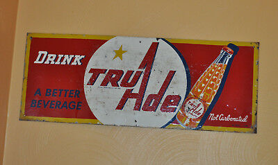 Vintage TRU-ADE Beverage Metal Sign