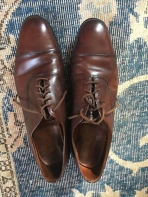 Church's Oxford Shoes Cap Toe Sz 10-11 Jumbo Italy VTG Burgundy