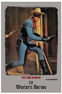 "4x6"" MAGNET PRINT - ""THE LONE RANGER"" - CLAYTON MOORE"