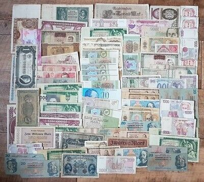 Old Collections & Lots - more than 90 banknotes - Russia,Finland,Czech and other