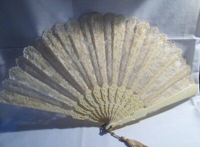 Vintage Lace Ladies Hand Fan