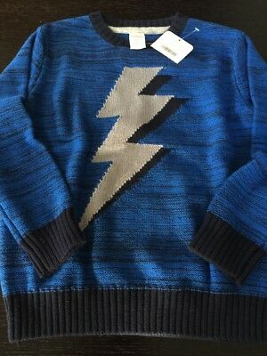 Gymboree Boys New With Tags Size 5-6 Lightening Bolt Sweater