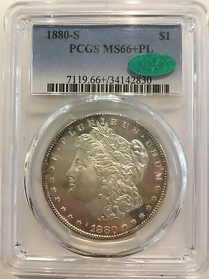 1880-S $1 Morgan Silver Dollar PCGS Certified MS 66+ Proof Like CAC