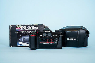 Nishika N8000 3d Camera with Carrying Case and Box *Film Tested*