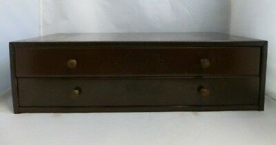 Vintage Metal 2 Drawer Watchmakers Parts Cabinet With New Old Stock Crystals