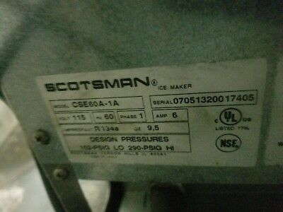 Scotsman Ice Maker CSE60A1A