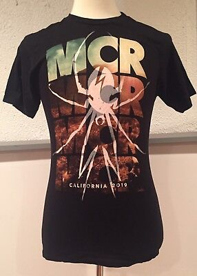 My Chemical Romance MCR California 2019 T Shirt Black Spider Punk Emo Medium
