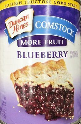 Duncan Hines Comstock Pie Filling & Topping More Fruit Blueberry 3 x 21oz