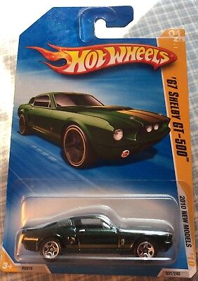 Hot Wheels 2010-001 New Models 67 Shelby Gt500 1/44 5Sp Green